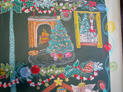 2018 chalkboard Christmas tree`
