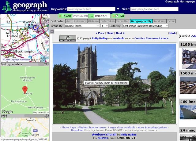 Neobyčejně propracovaný systém evidence a lokalizace snímků nejen památek mají ve Spojeném království a Irsku