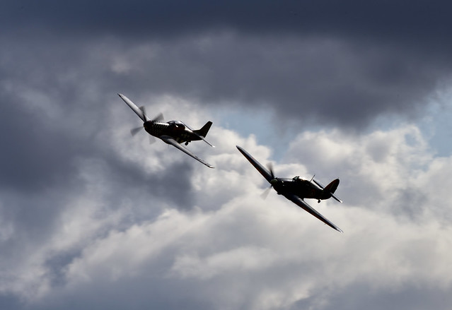 Sea Hurricane and P51D Mustang