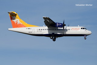ATR.42-600 DRUK AIR ROYAL BHUTAN AIRLINES F-WWLL 1412 TO A5-JNW 08 10 19 TLS