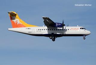 ATR.42-600 DRUK AIR ROYAL BHUTAN AIRLINES F-WWLL 1412 TO A5-JNW 08 10 19 TLS