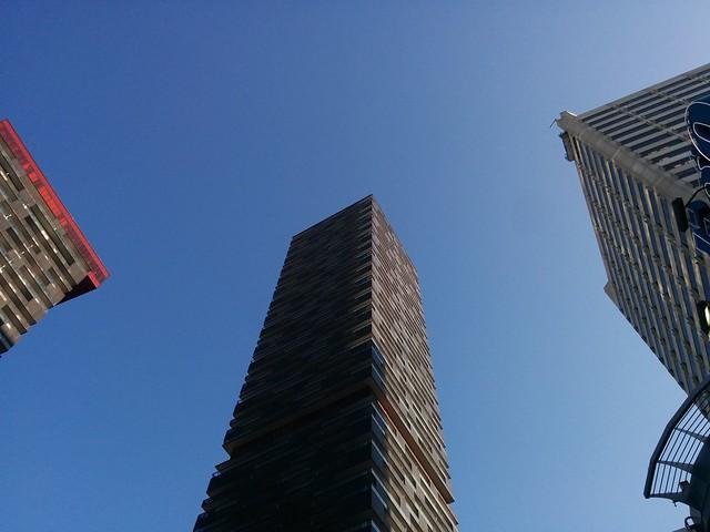 Looking down at E Condos #toronto #yongeandeglinton #econdos #blue #sky