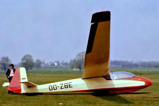 OO-ZBE   Schleicher Ka.7 Rhonadler [447] Aalst~OO 13/05/1979
