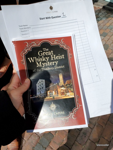 The Great Whisky Heist Mystery booklet