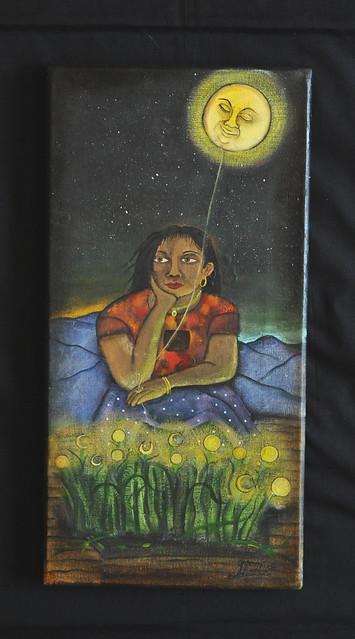 Painting Demetrio Aguilar Oaxaca Mexico