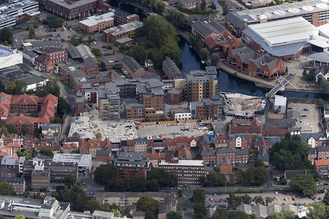 St Annes Quarter development - Norwich aerial image