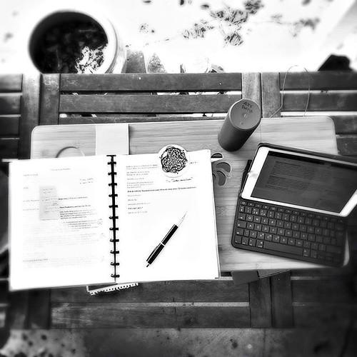 Working on the jacket copy for SHORTER. (That's an MC Escher paperweight I got at the @escherinpaleis this summer.) Every day we get a little closer....