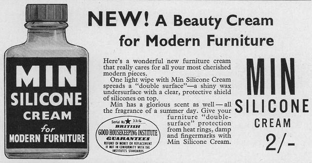 Min Silicone Cream. 1957