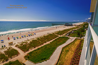 Super Secret Owners Lounge Level View Surf and Dunes Pier 14 Brand New Ocean Enclave by Hilton Grand Vacations (3184) Myrtle Beach, SC 9-23-2019.