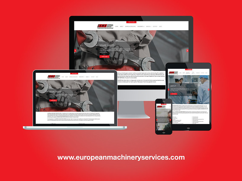 European Machinery Services Responsive Website Design
