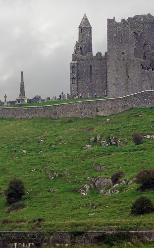 The Rock of Cashel from the Cashel Hore Abbey in Ireland
