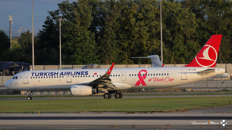 "Airbus A321-231, Turkish Airlines livrée ""PinkCap"", TC-JTK"