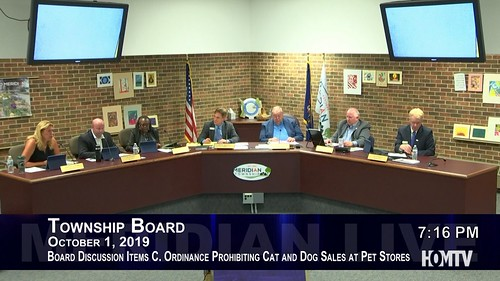 Township Board Discusses Ordinance Prohibiting Cat and Dog Sales at Pet Stores