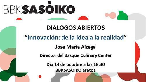 Primera conferencia de los Diálogos Abiertos de BBK Sasoiko