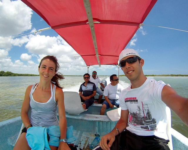 En barca por la reserva de Rio Lagartos