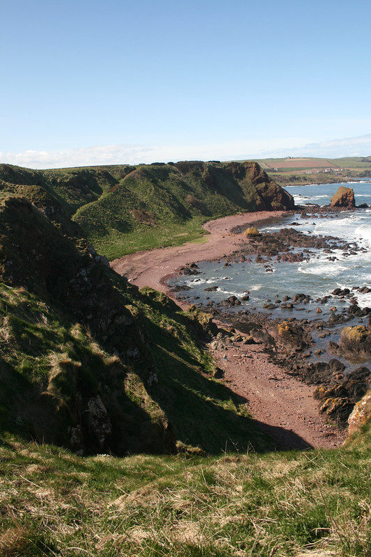 The coast north of Eyemouth