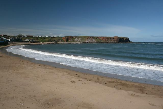 The beach at Eyemouth