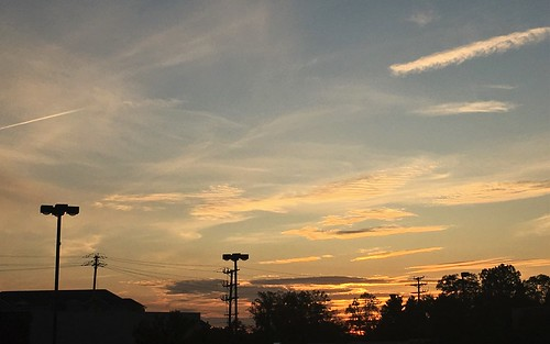 pikesville maryland sky clouds sunset dusk lightpoles powerlines silhouettes iphone htt