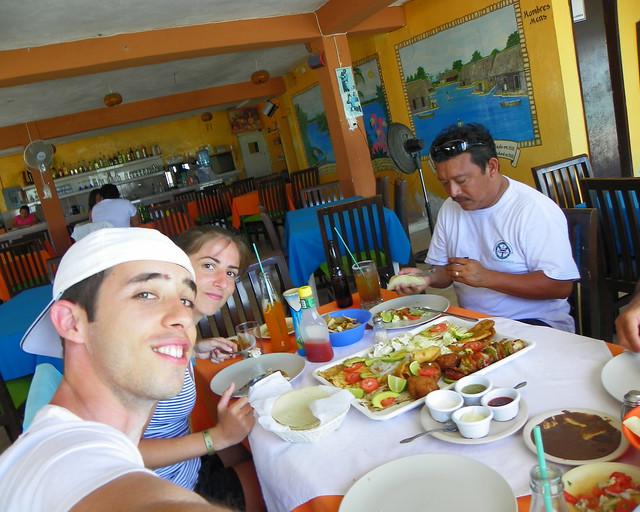 Chiringuito de pescado en Riviera Maya