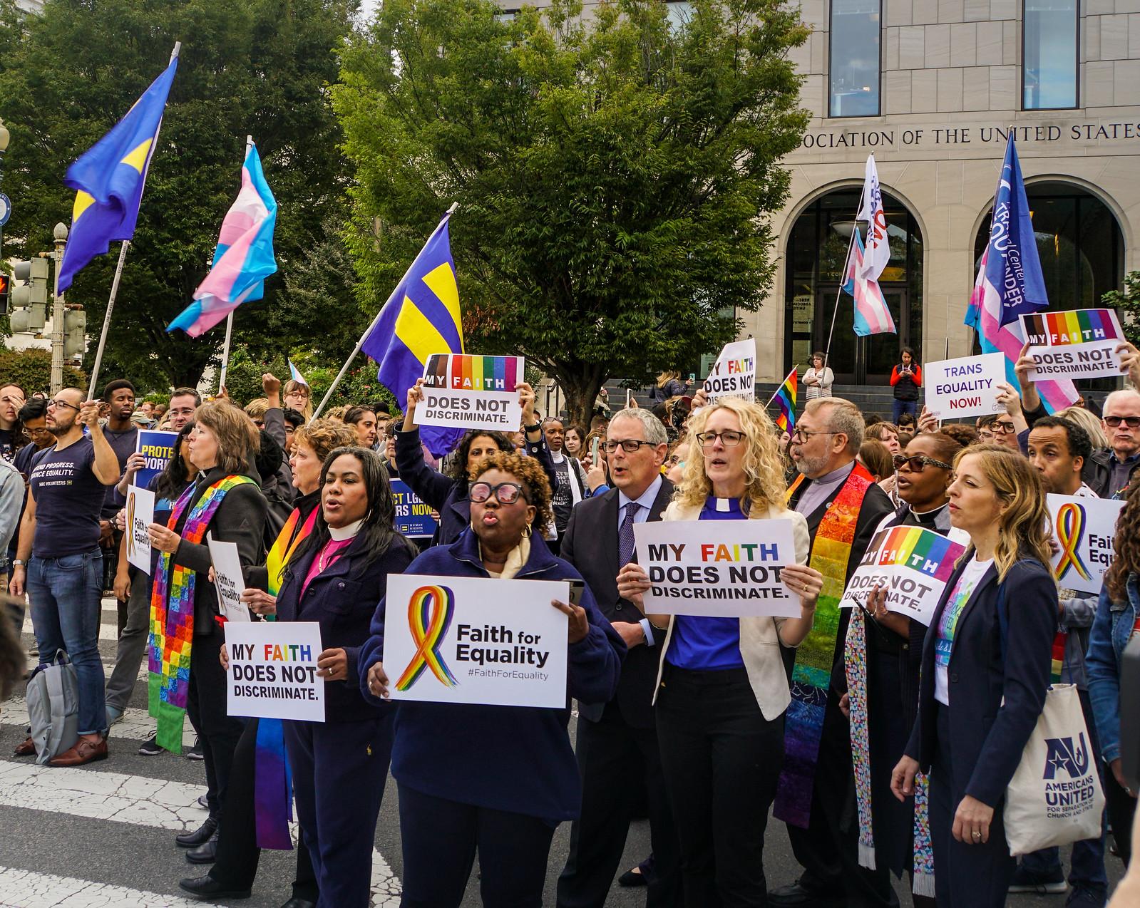 2019.10.08 SCOTUS Protest for LGBTQ Equality, Washington, DC USA 281 24022