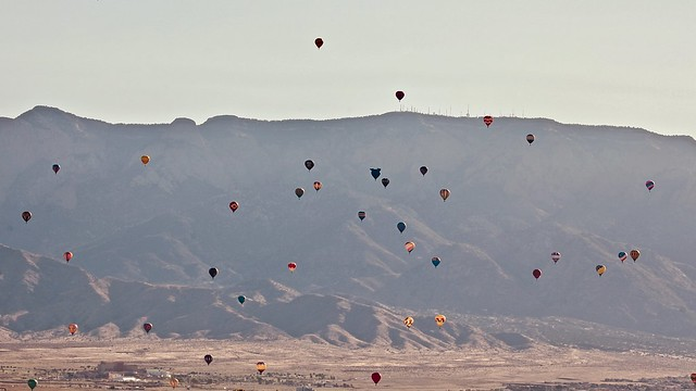 Balloons and the Sandias
