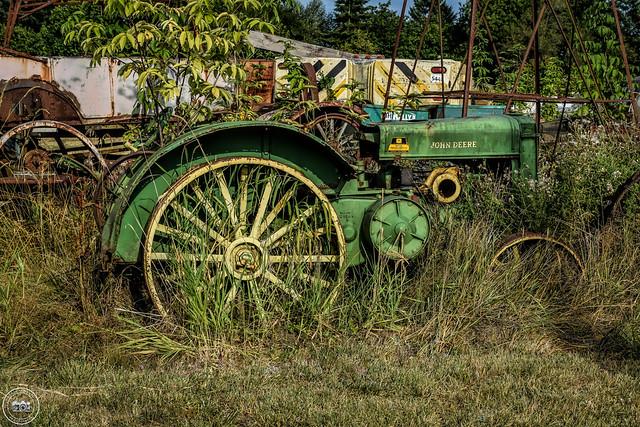 C.W. Wallace (Rusty Relics) John Deere Tractor