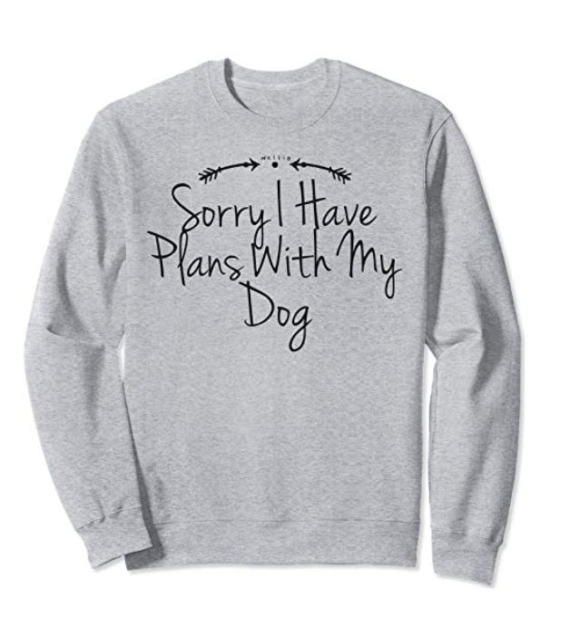 Sorry I Have Plans With My Dog Sweatshirt