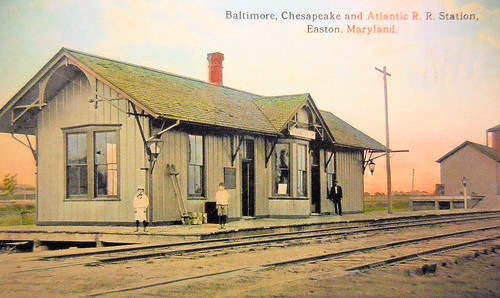 Easton, Maryland train station, Baltimore, Chesapeake and Atlantic Railway