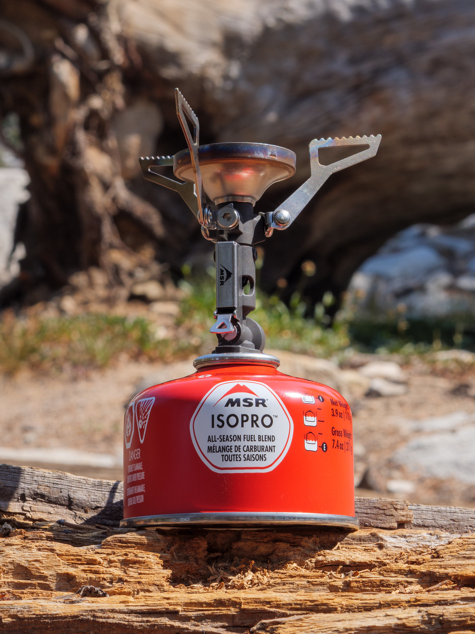My backpacking stove: MSR PocketRocket Deluxe