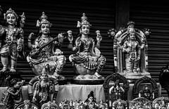 Golu dolls in monochrome