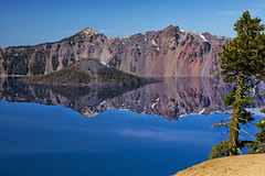 Crater Lake Reflections, Wizard Island