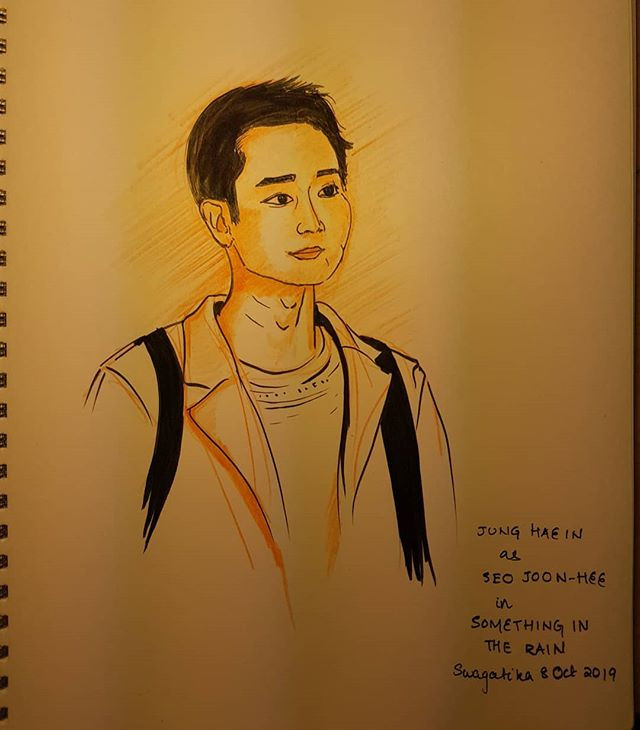#inktober2019day7 #inktober2019 . #junghaein #seojoonhee #somethingintherain #kdrama