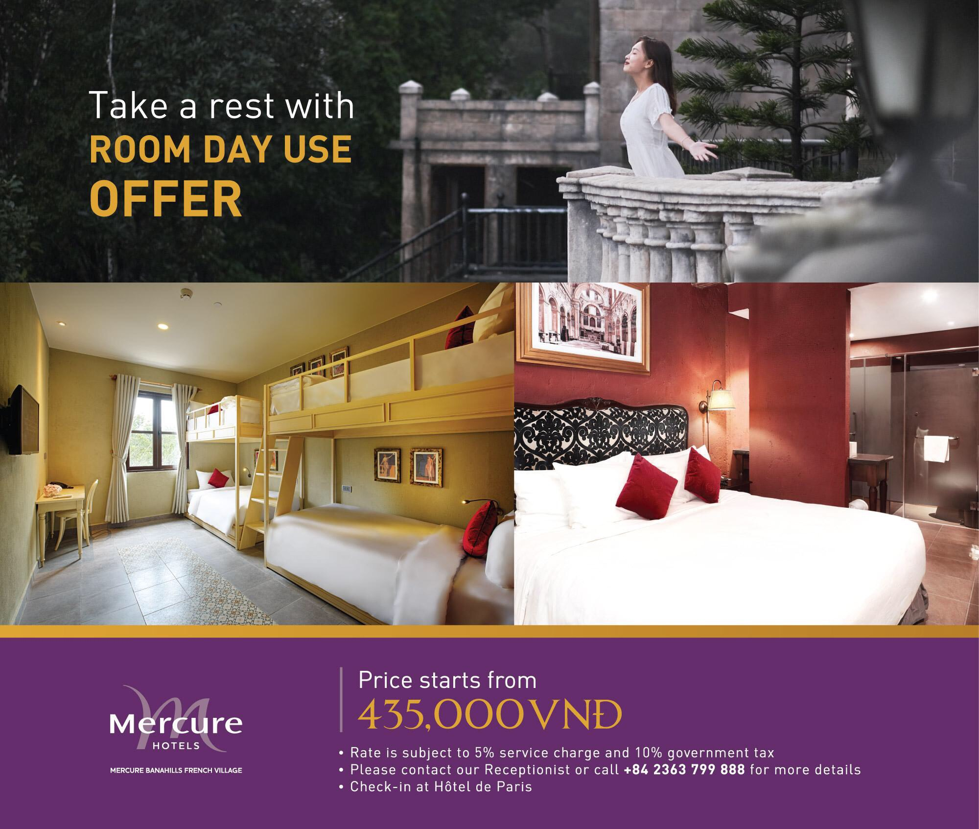 Room Day Use Offer