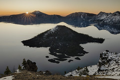 Crater Lake Cloudless Sunrise