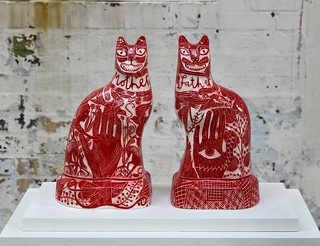 Flatbacks by Vicky Lindo and William Brookes at the Ceramics Biennial