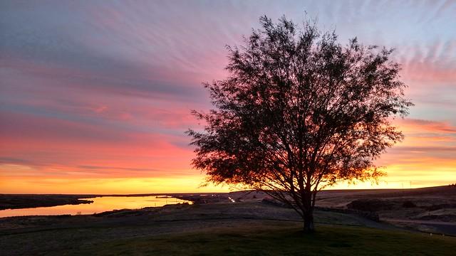 Sunset outside of Spokane