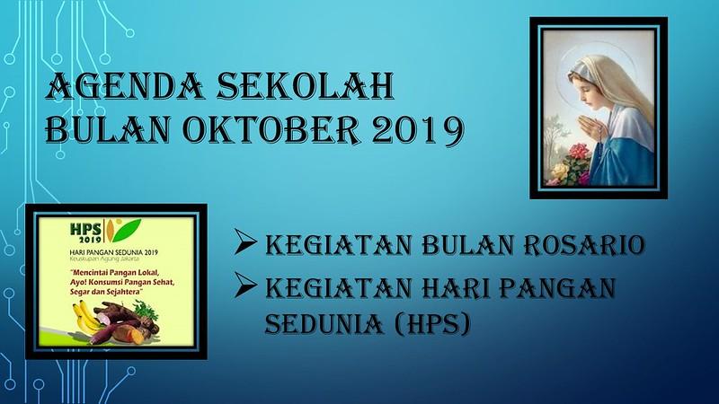 AGENDA SEKOLAH OKTOBER 2019