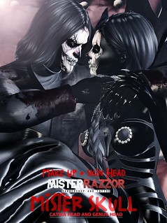 ((Mister Razzor)) Mister Skull Make Up Skin Head