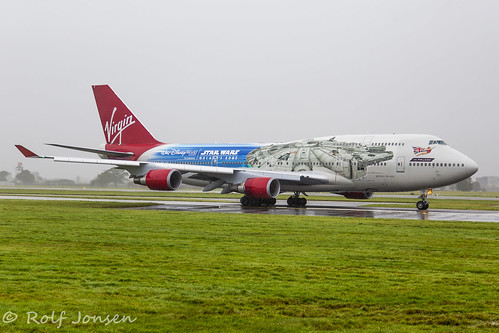 G-VLIP Boeing 747-400 Virgin Atlantic Glasgow airport EGPF 07.10-19 | by rjonsen
