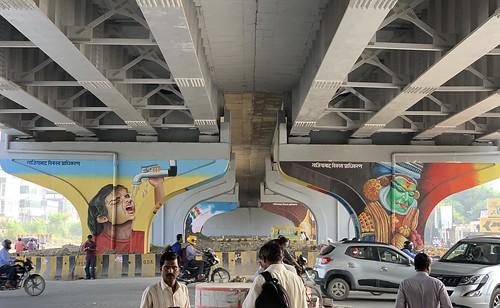 City Life - Mohan Nagar Flyover Art, Ghazaibad