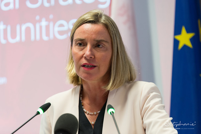 "Sixth high-level ""EU Diplomacy Lecture"" by Federica MOGHERINI.8 October 2019"
