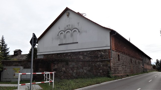1879 Weesow Scheune in Feldstein L235 Wilmersdorfer Chaussee in 16356