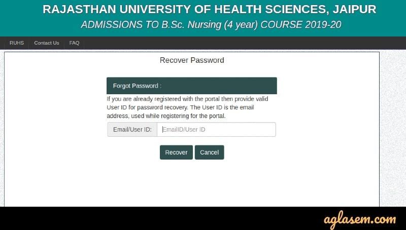 RUHS 2020 admit card
