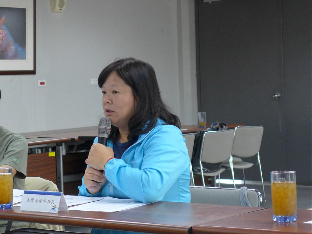 基隆市產發展處海洋事務科科長蔡馥嚀表示,會努力溝通,提高漁民與民眾的環境意識。孫文臨攝