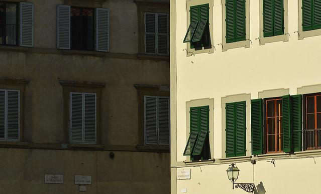 Light and shadow , piazza di Santa Croce