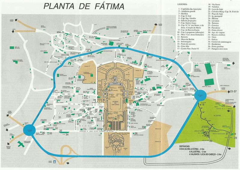Mapa turístico de Fátima