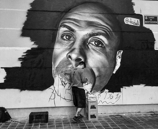 El artista desconocido en la calle del genio. -The unknown artist on the street of genius