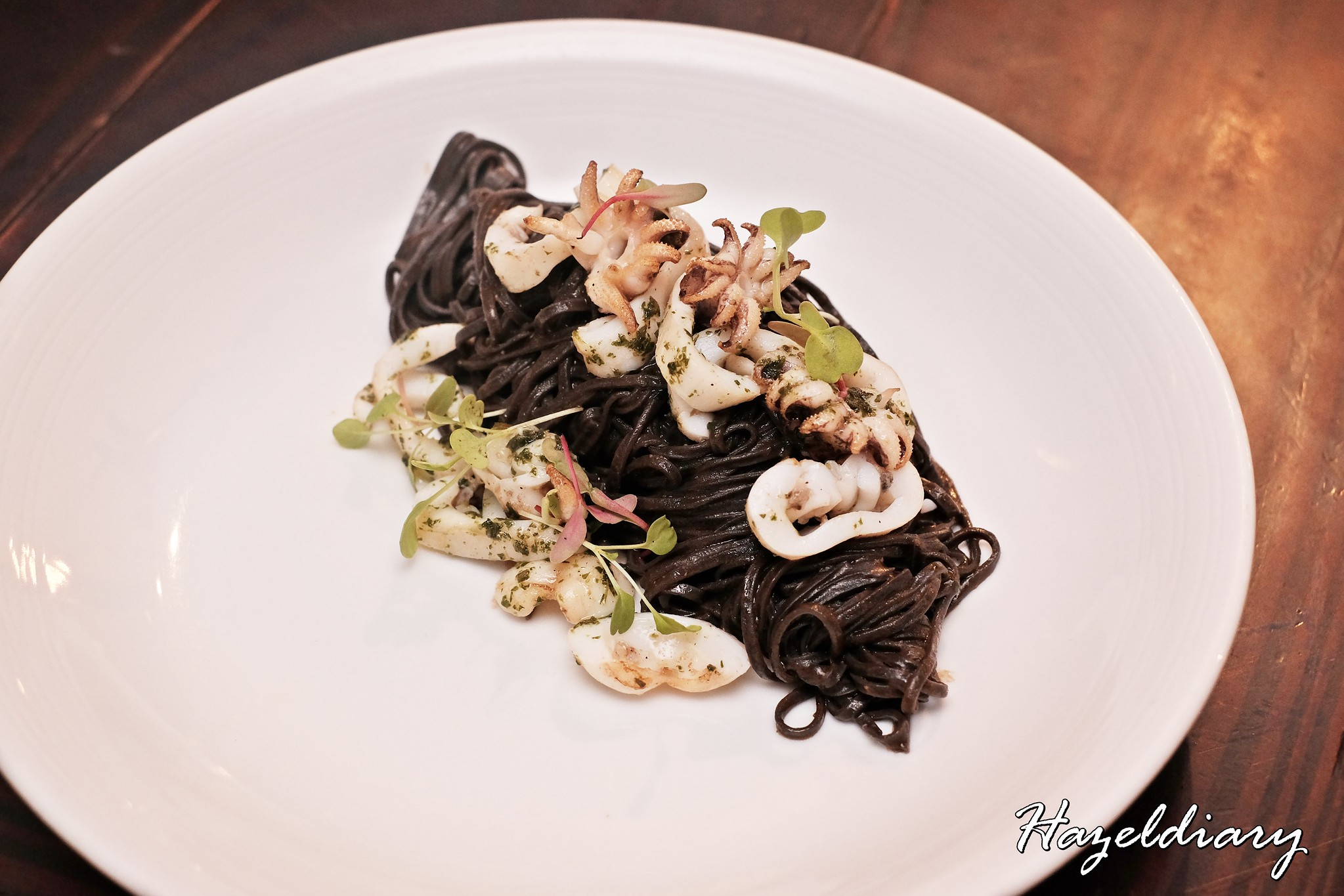 SONS-Squid-ink Tagliollini, Wild Cuttlefish & Orange Salmoriglio