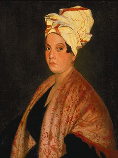 1920 painting of Marie Laveau by Frank Schneider, based on an 1835 painting by George Catlin.