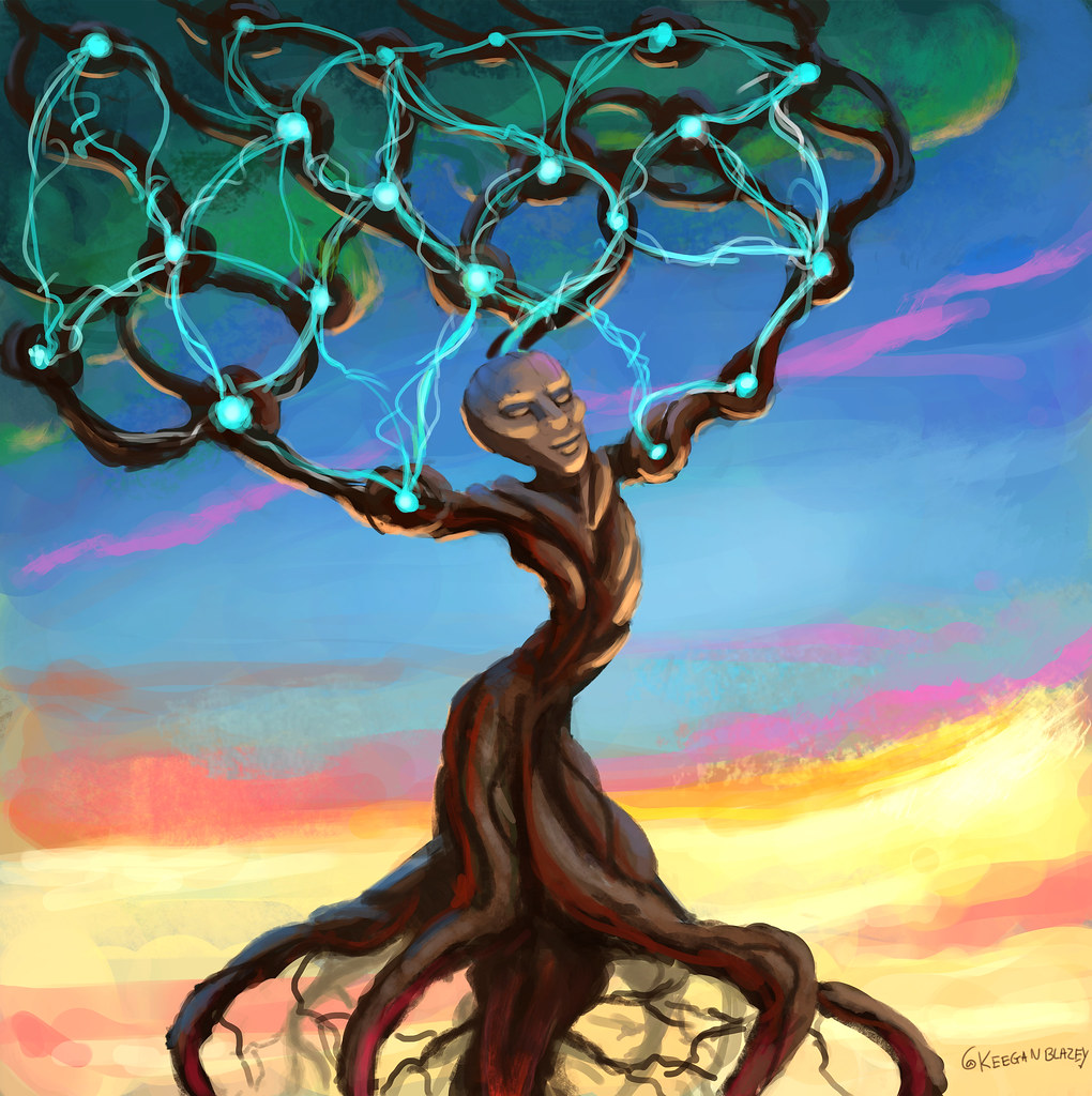 Tree illustration by Keegan Blazey